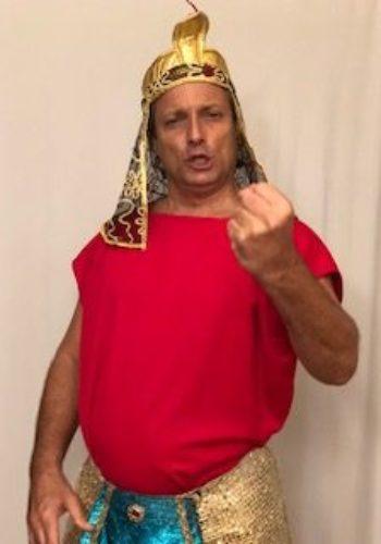 David Presler as the Egyptian Pharaoh