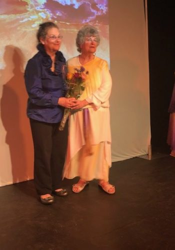 Bonita Tabakin Artist, and Sheila Firestone Composer, after Miriam and the Women of the Desert Performance 4/7/19